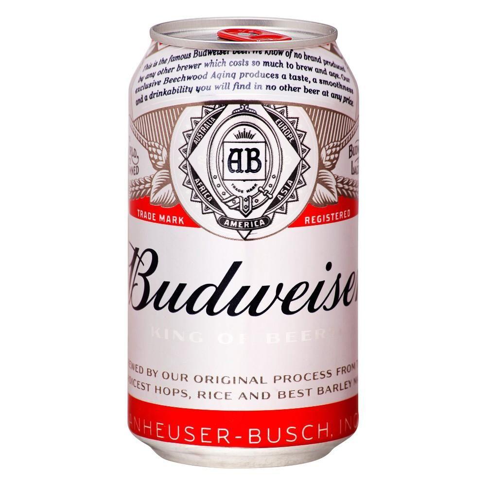 Cerveja Americana Budweiser Lata Pack c/ 12un de 350ml