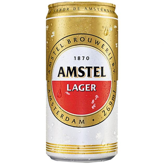 Cerveja Holandesa Amstel Lata Pack c/ 12un de 269ml