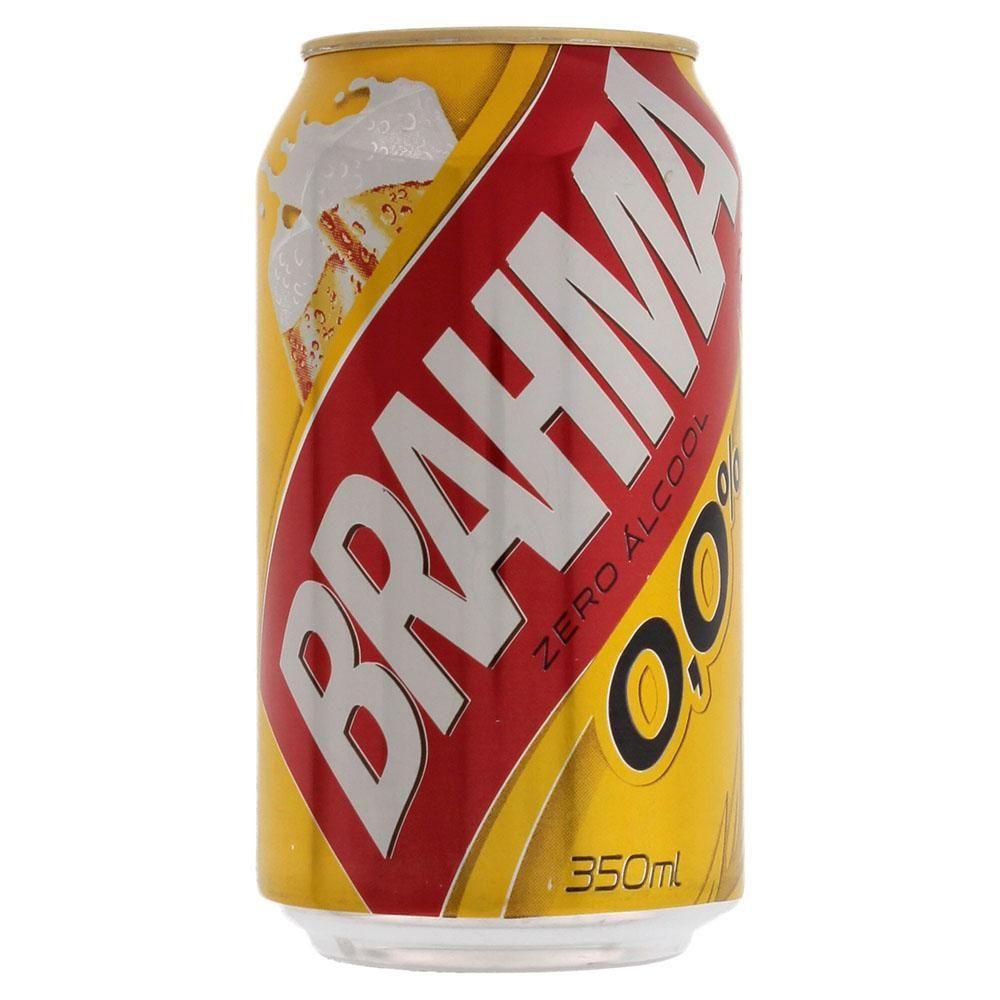 Cerveja Nacional Brahma Sem Álcool Lata Pack c/ 12un de 350ml