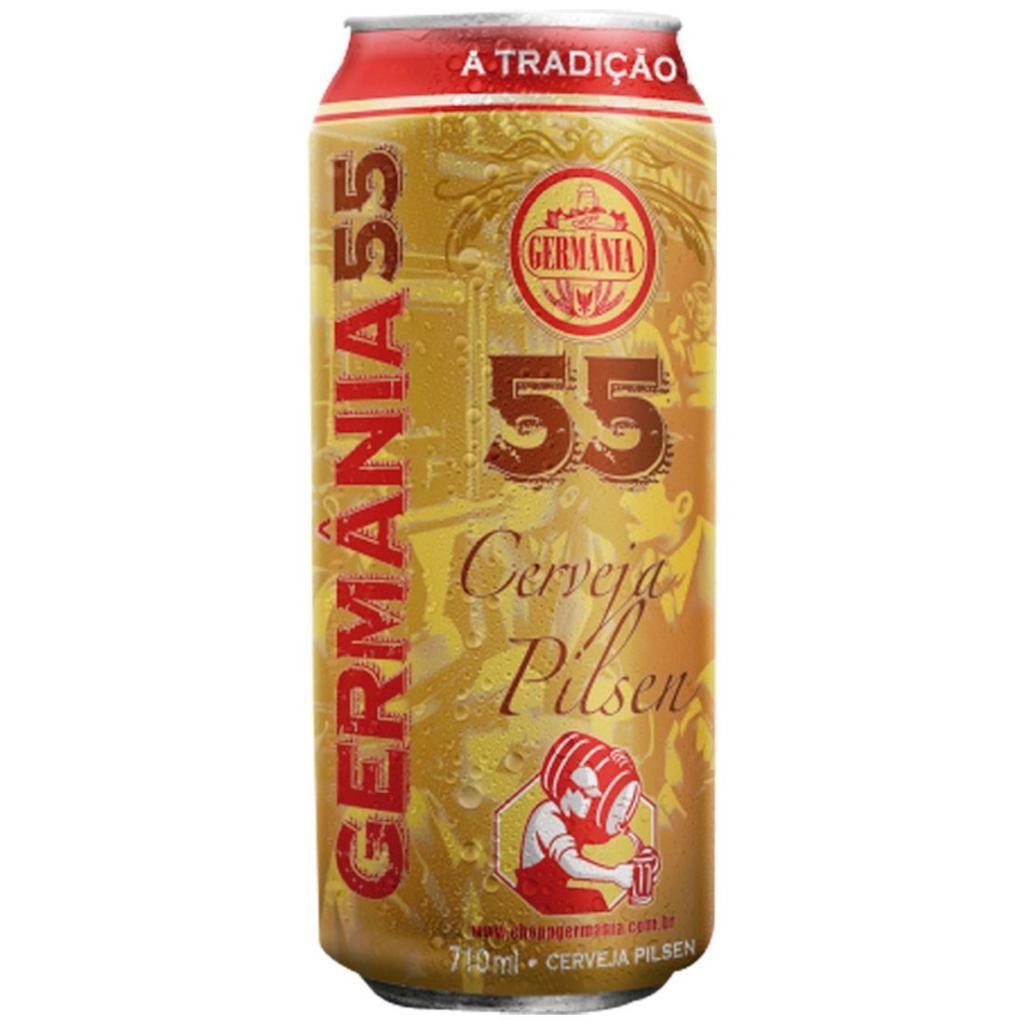 Cerveja Nacional Germânia 55 Lata Pack c/ 6un de 710ml