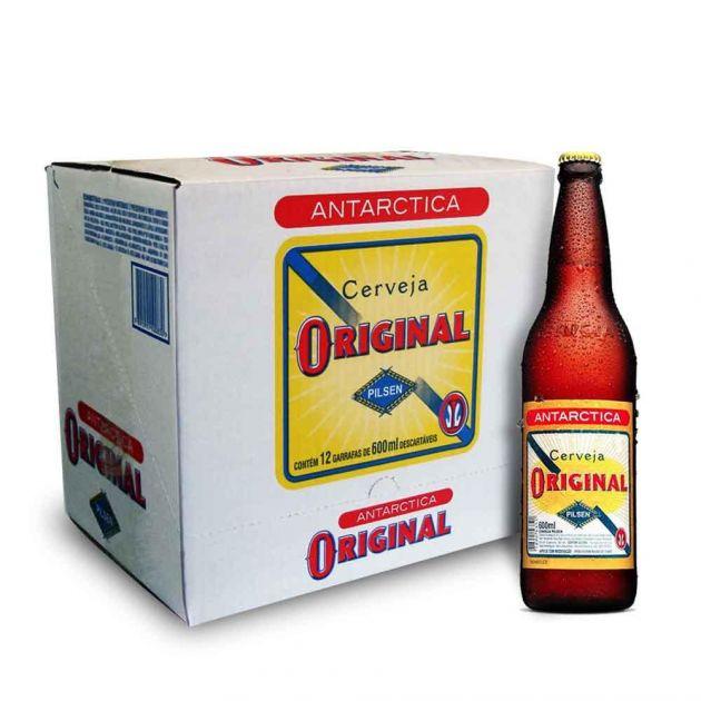 Cerveja Nacional Original Garrafa Caixa c/ 12un de 600ml